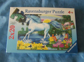 Ravensburger 2 X 20 Piece Puzzle~Fairies and Unicorn on both sides~2 puzzles in  - $14.95