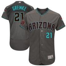 Men's Arizona Diamondbacks Zack Greinke Gray Teal Road Flex Base Player ... - $84.99
