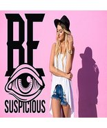 Wall Decal Vinyl Sticker Bedroom be suspicious quote eye lettering words - $63.00