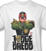 Judge Dredd T-shirt I Am Law Free Shipping comic cotton graphic white tee JD102 image 2