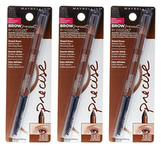 (3x) MAYBELLINE BROW PRECISE Shaping Eyebrow Pencil + Brush # 265 - AUBURN - $12.69