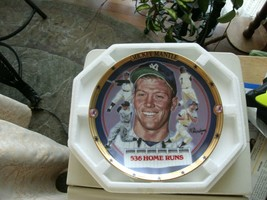 """17#1 The Hamilton Collection Mickey Mantle """"536 Home Runs"""" Collectors Plate - $13.85"""