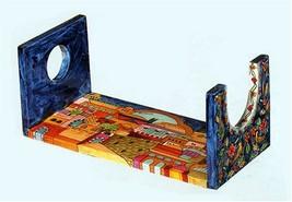 Jerusalem Handpainted Wooden Shofar Stand By Yair Emanuel Vtsts1 - $54.49