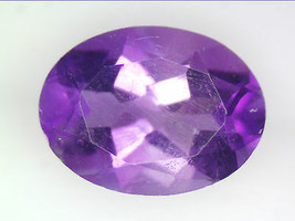 1.23 CT NATURAL AMETHYST LOOSE GEMSTONES PURPLE OVAL FACETED CUT 6.06 X ... - $18.63