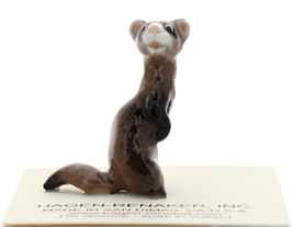 Hagen-Renaker Miniature Ceramic Figurine Ferret Standing - $6.49