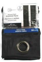 "1 Mainstays Grommet Panel Easy to Hang 84"" Length 105083 Raven Black Polyester - $24.99"