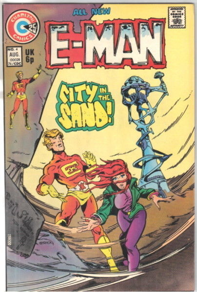 Primary image for E-Man Comic Book #4, Charlton Comics 1974 VERY FINE+