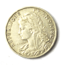 1904 France 25 Twenty Five Centimes KM# 856 Nickel Coin  image 1