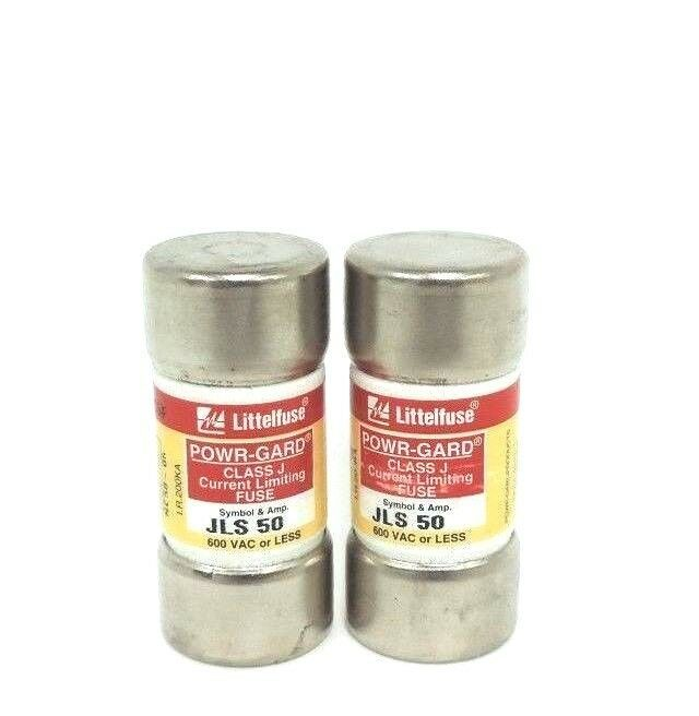 LOT OF 2 NEW LITTELFUSE JLS 50 POWR-GARD CLASS J CURRENT LIMITING FUSES JLS50