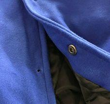 Men's Classic Snap Button Vintage Baseball Letterman Varsity Jacket w/ Defects image 3