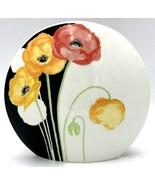 "Mikasa Art Deco Bone China Vase Decor Lax 7.5"" x 8.5"" x 3"" Japan Floral ... - $22.99"