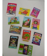 2013 Series 2 Topps Garbage Pail kids set 10 pack sticker cards opened p... - $4.94