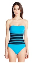 Calvin Klein 12 Binding Overlay One Piece Swimsuit  UV Protection 50+ - $69.29