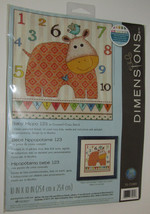 Baby Hippo 123 Counted Cross Stitch Kit New Name Personalize Dimensions  - $19.79