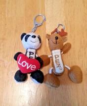 2 PEZ Dispenser Keychains. Panda and Reindeer. - $7.91