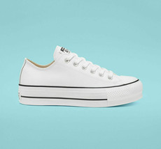 NIB*Converse All Star Leather Platform Low Top*Pale Putty White*5-10*Sne... - $125.00