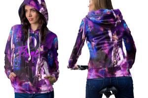 Prince memorial zipper hoodie women