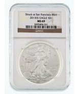 2013-(S) Silver American Eagle Graded by NGC as MS-69 - $44.53