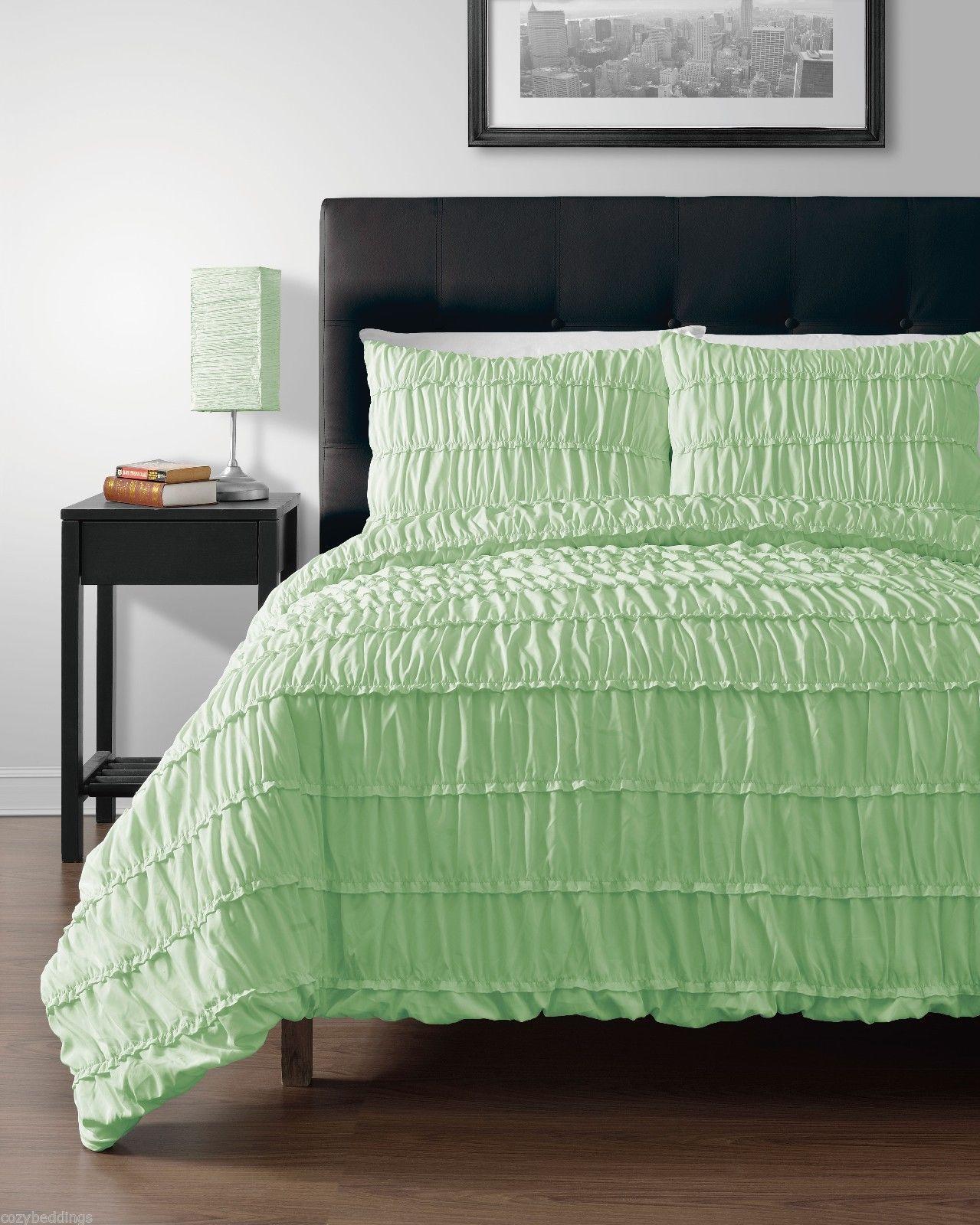pinzon mint green 5pc duvet cover set with duvet insert full size bed cover set duvet covers. Black Bedroom Furniture Sets. Home Design Ideas