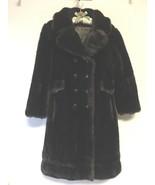 Vintage Grandella Fur Coat styled by Fairmoor Dark Brown Real Fur Overcoat - $99.00