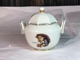 "Hummel Goebel  "" Umbrella Boy & Girl "" -Porcelain Sugar Dish Danbury Mint - $28.71"