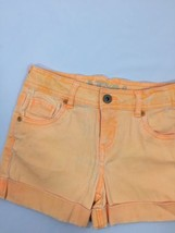 Toatal Girl Neon Orange Shorts Above Knee Regular Cotton Spandex  Size 8 - $15.90