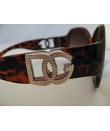 DG Reddish Brown Leopard Sunglasses With Goldto... - $10.95