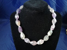 "16"" Handmade Large Fluorite Beaded Necklace Z156 - $30.00"