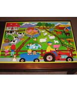 Wood Wooden Farm Animals Jumbo Jigsaw Floor Puzzle 26 pcs 2x3Ft - $10.00