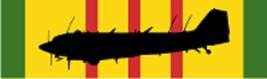 "Vietnam – Douglas EC-47P (Black) Decal 6"" Wide x 1.77"" High - $11.87"