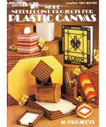 MORE NEEDLEPOINT PROJECTS FOR PLASTIC CANVAS NEW LEISURE ARTS LEAFLET 184 - $3.50