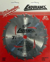 "Milwaukee 48-40-4116 7-1/4"" x 16T Carbide Saw Blade Carded - $3.47"