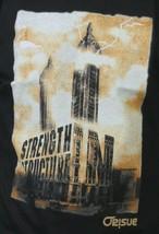 Orisue Mens Black Structure Strength Building Tower Lightning T-Shirt Medium NWT image 2