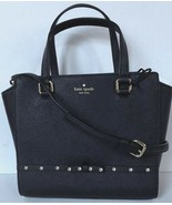 New Kate Spade small Hadlee Laurel Way Jeweled Saffiano Leather Tote Black - $119.00