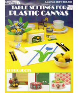 TABLE SETTINGS FOR PLASTIC CANVAS - $4.95