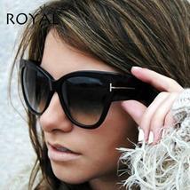 ROYAL GIRL Luxury Brand Designer Women Sunglasses Oversize Acetate Cat E... - £7.56 GBP