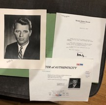 "Robert Kennedy RFK Hand Signed 8 x 10"" Photograph  - PSA/DNA Authentic W... - $4,116.00"