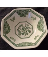 Vintage J & G Meakin Coupe Cereal Bowl - Liberty Shape - Old Pekin Green Pattern - $14.84