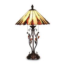 Non Metal Dale Tiffany Ripley Table Lamp (Length=18) (Width=18) [Gm18399] - $384.72