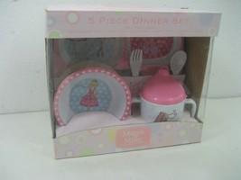 Maggie Miller Children's Collection Five (5) Piece Dinner Set Pink Polka... - $12.16
