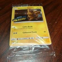 POKEMON Detective Pikachu Movie HOLOGRAM PROMO CARD SM190-NEW-Free Shipping - $7.42