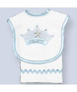 Baby's Prince Bib and Burp Set for Baby - $22.00