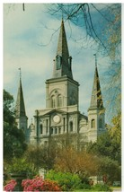 St. Louis Cathedral Church, New Orleans, Louisiana Postcard - $12.82