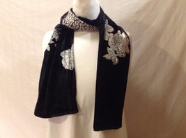 Gorgeous Combo Scarf Velvet and Satin floral vintage rose abstract color choice image 2