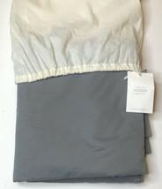 Restoration Hardware Garment-Dyed Sateen Duvet Cover Twin Graphite NEW $295 - $99.99