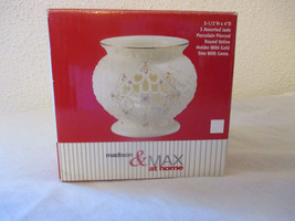 Assorted Jade Porcelain Pierced Round Votive Holder - $15.83