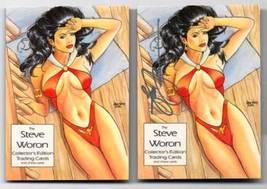 Woron Female Fantasy VAMPIRELLA #1 SIGNED trading card~ - $9.95