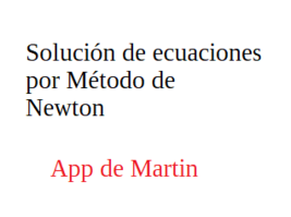 App de solución de ecuaciones por Newton - $19.99
