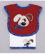Baby's Juice Bib & Burper Set: Puppy - $22.00