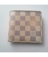 Authentic Louis Vuitton Damier Azur Mens Wallet 4in x 4in(CA2057) - $189.95